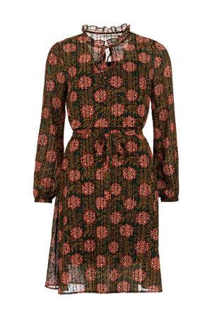jurk Maddie met all over print groen