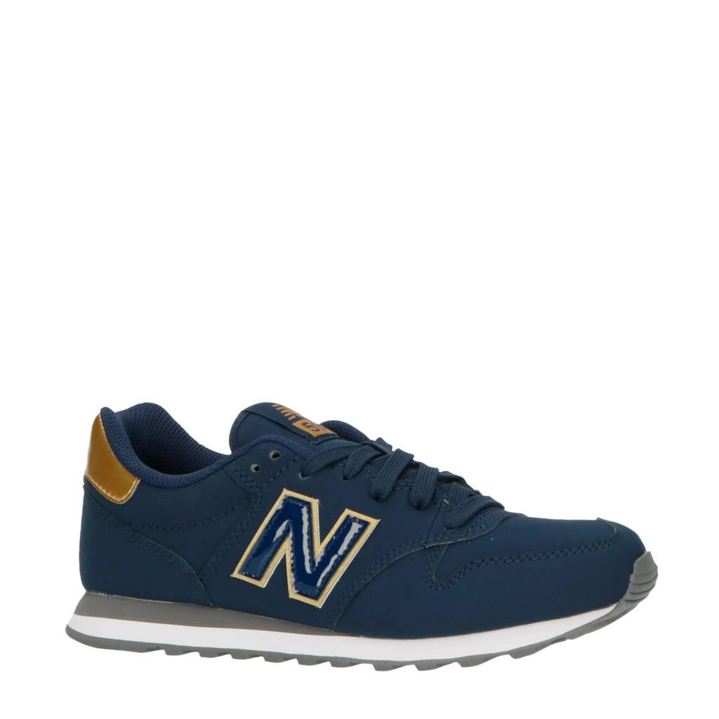 New Balance 500  sneakers donkerblauw/zwart, Donkerblauw/goud