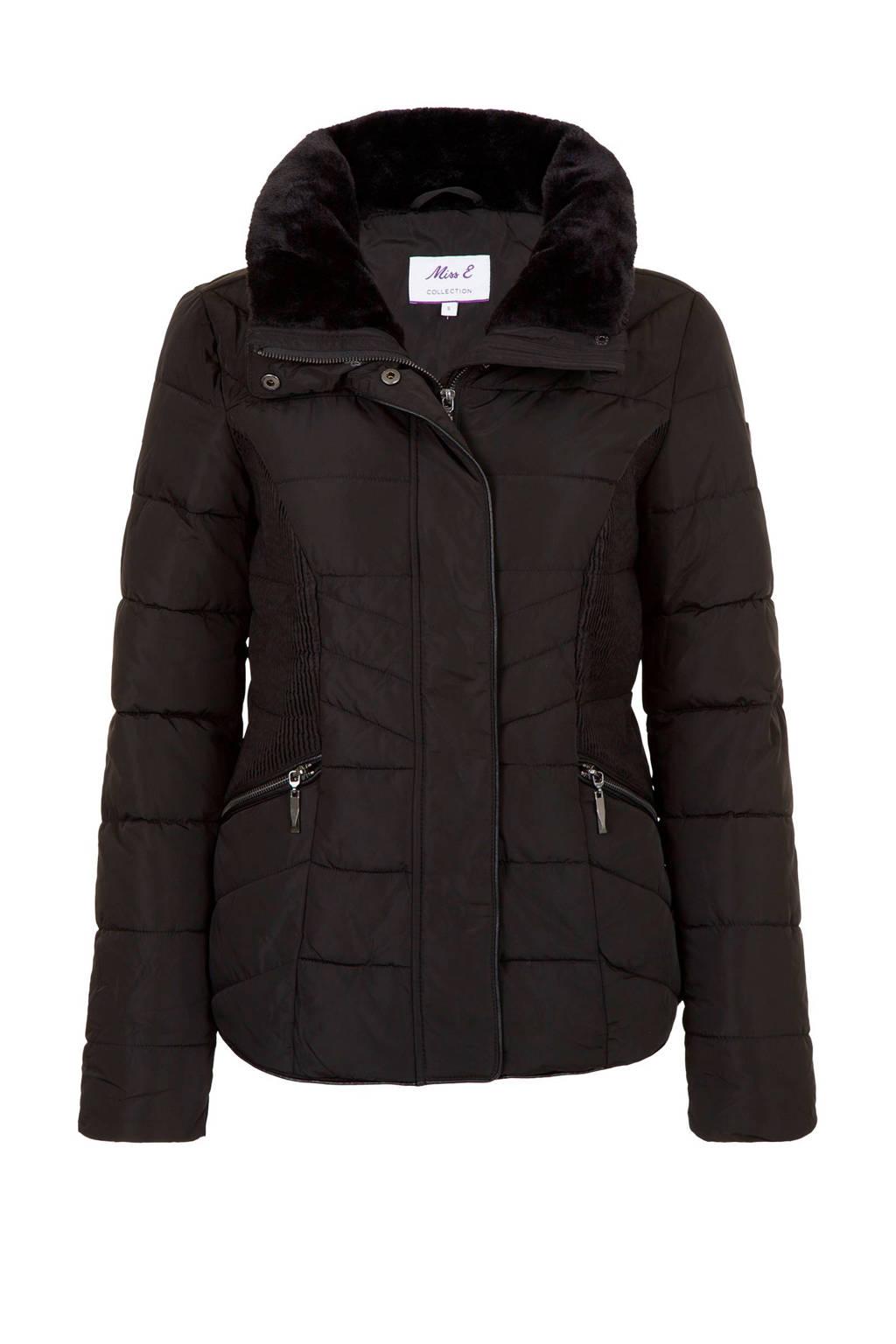 Miss Etam Regulier winterjas zwart, Zwart