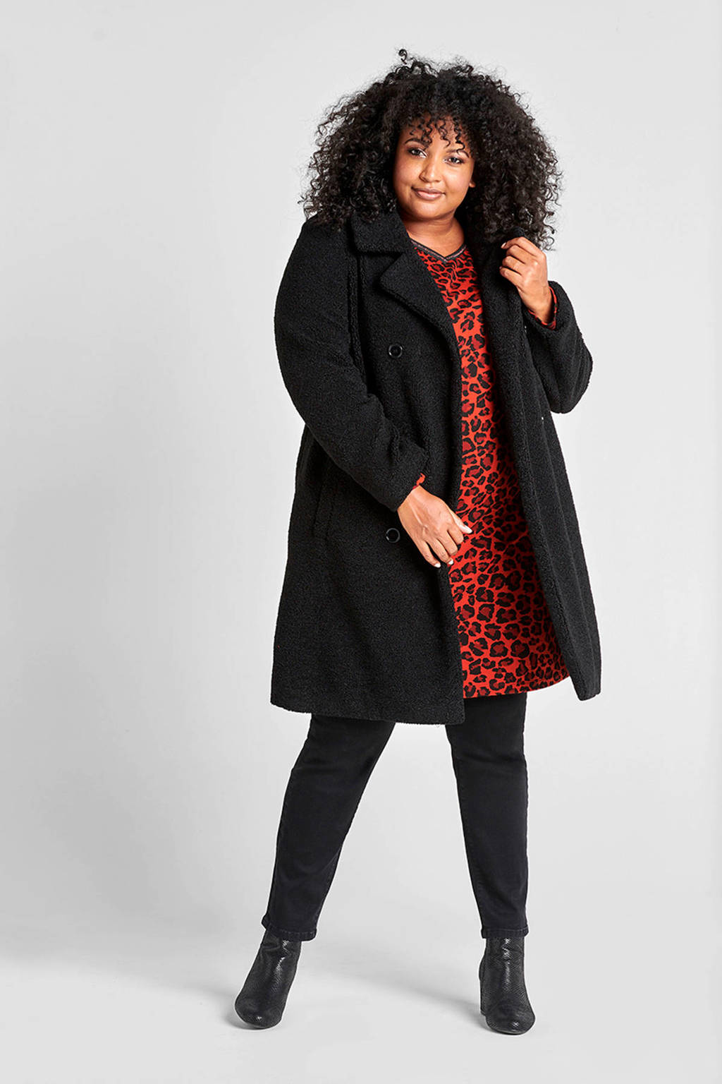 Miss Etam Plus skinny tregging zwart, Zwart