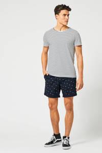 America Today gemêleerd T-shirt white/navy, White/Navy