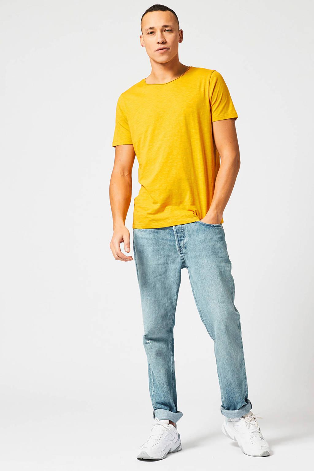 America Today gemêleerd T-shirt geel, Geel