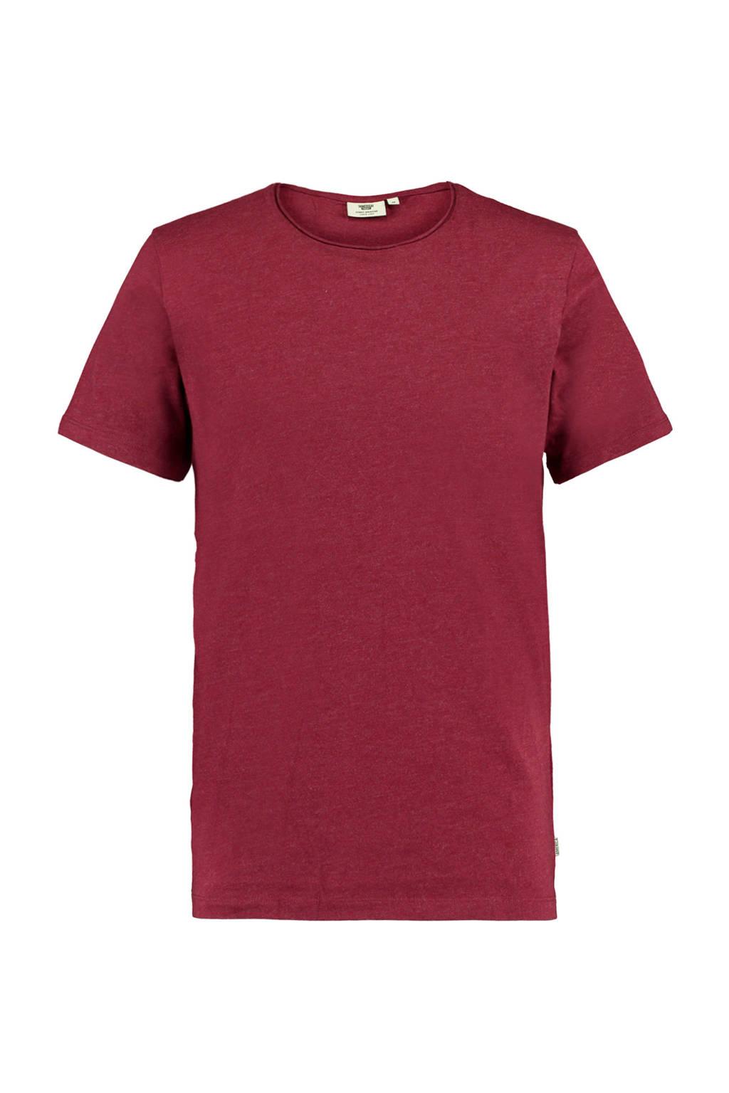 America Today gemêleerd T-shirt donkerrood, Donkerrood