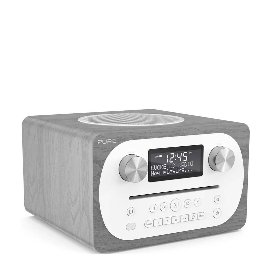 Pure Evoke C-D4 Bluetooth DAB+ radio, Grijs, wit