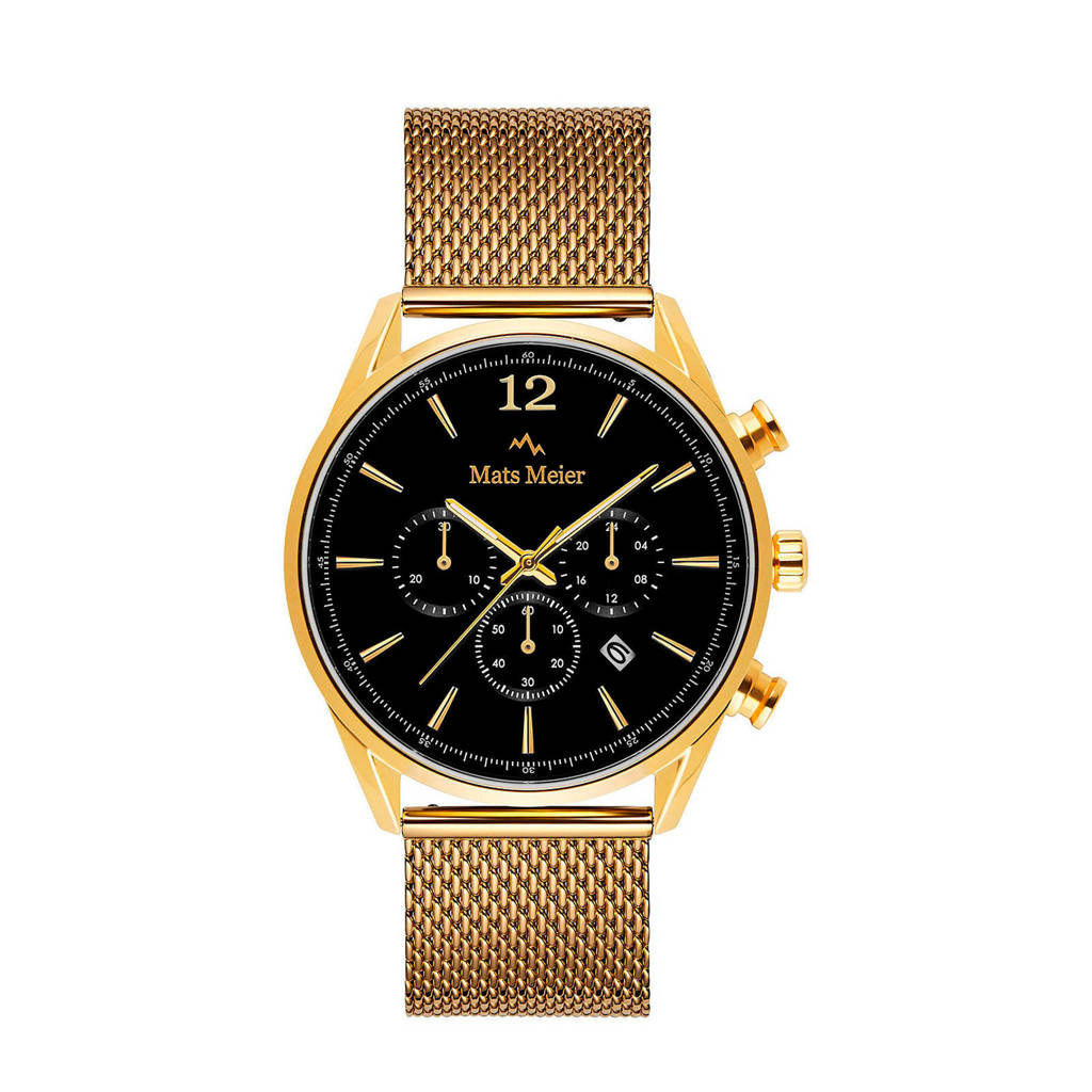 Mats Meier chronograaf MM00120  zwart/goudkleur, Goudkleurig