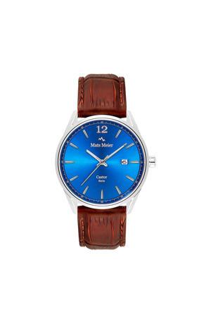 horloge MM01001 blauw/bruin