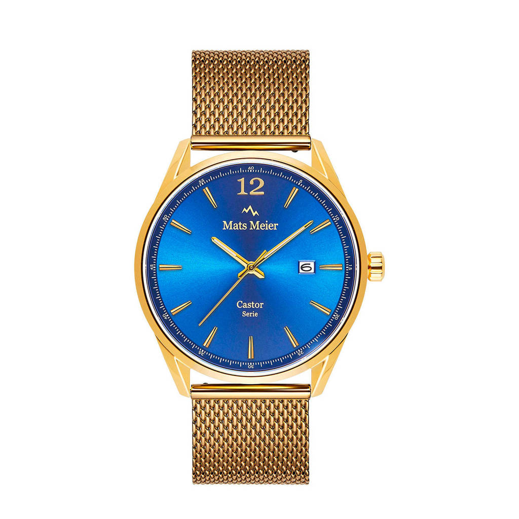 Mats Meier horloge MM01010 goudkleur, Goudkleurig