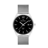 Mats Meier horloge MM01006 zwart/zilverkleur, Zwart/zilverkleur