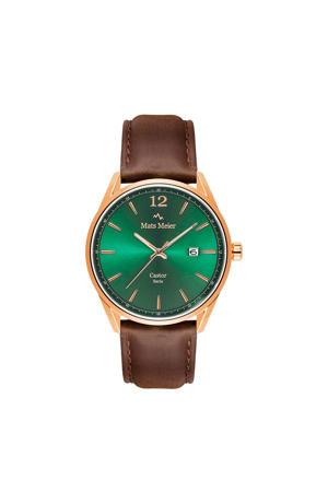 horloge MM01012 groen/roségoud