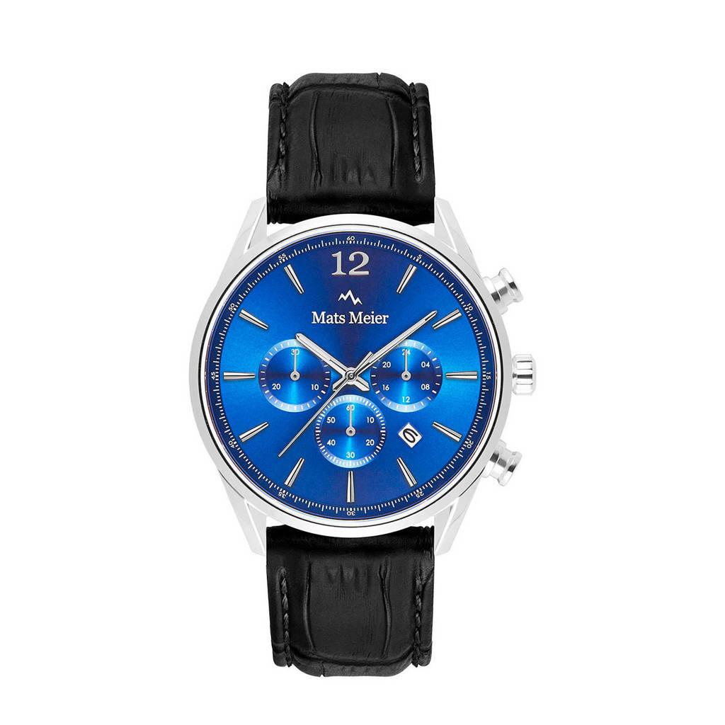 Mats Meier horloge MM00112  blauw/zwart, Zwart