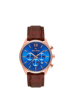 chronograaf MM00113 blauw/roségoud