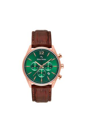 chronograaf MM00114 groen/roségoud