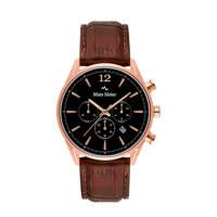 Mats Meier chronograaf MM00101 zwart/bruin, Bruin