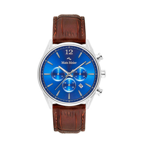 Mats Meier chronograaf MM00103 blauw/bruin
