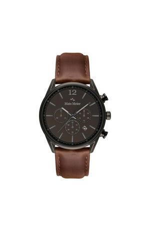 chronograaf MM00104 gunmetal/donkerbruin