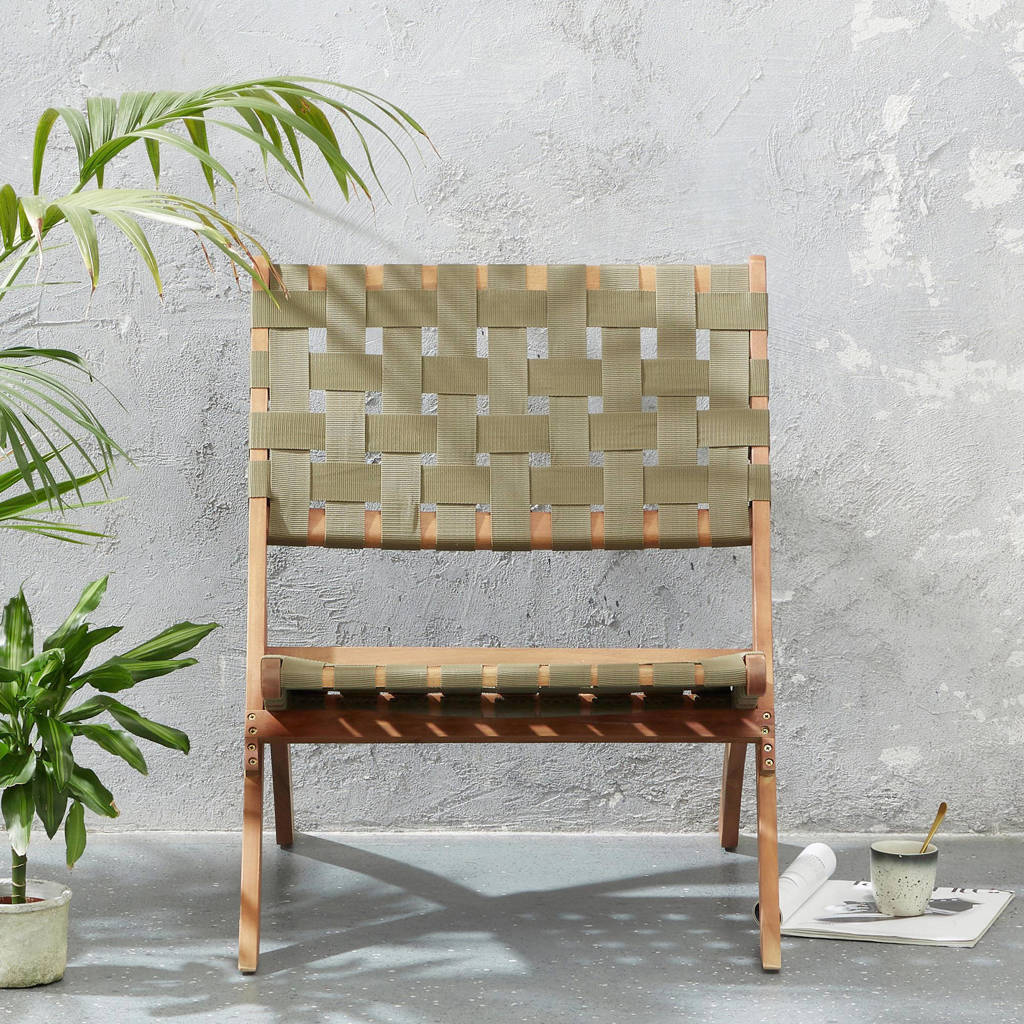 whkmp's own inklapbare tuinstoel Cocos, Groen/naturel