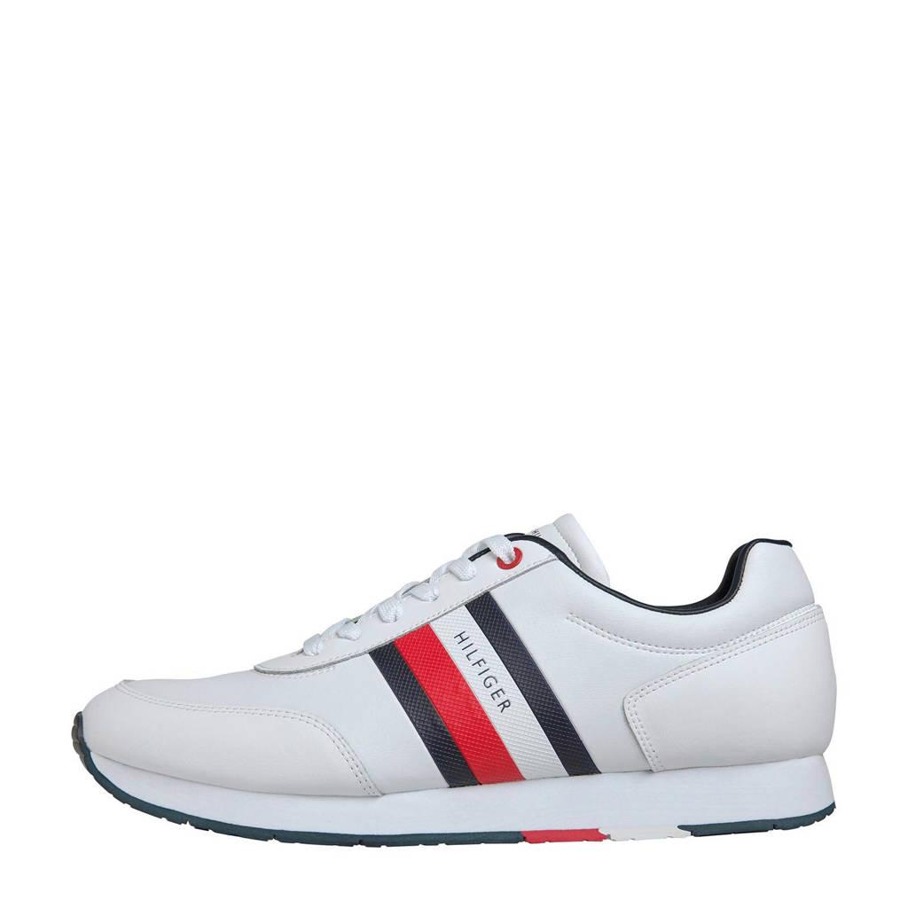 Tommy Hilfiger   leren sneakers wit, Wit/multi