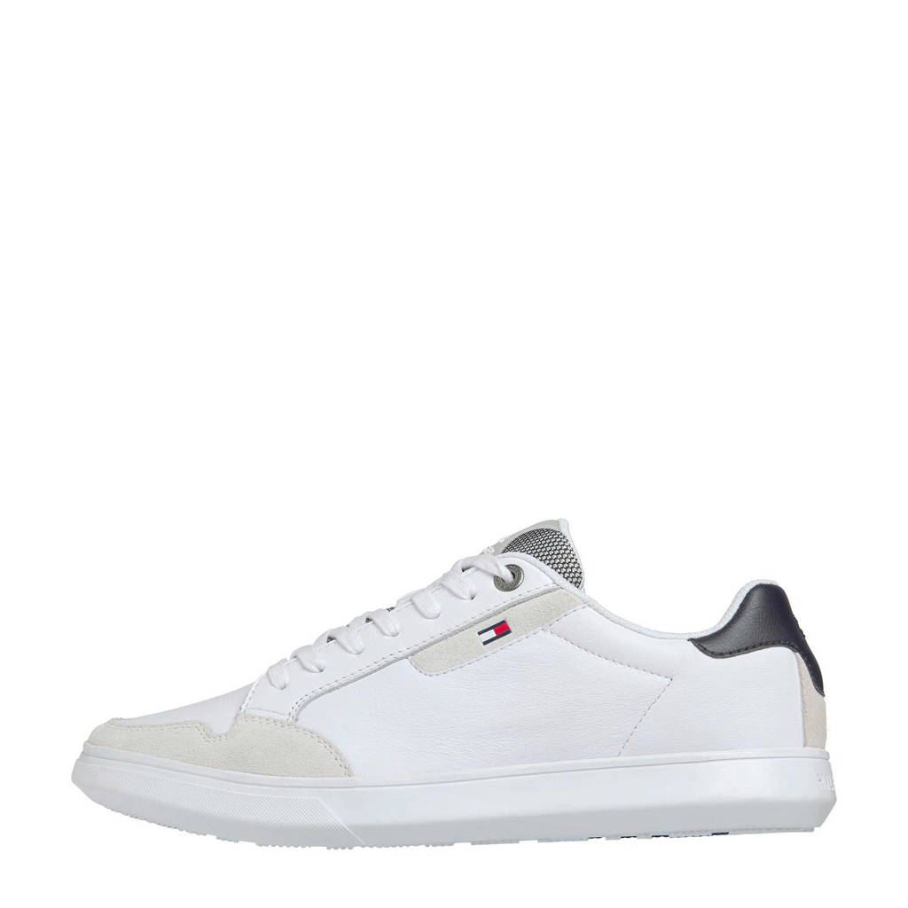 Tommy Hilfiger Essential  leren sneakers wit, Wit/multi