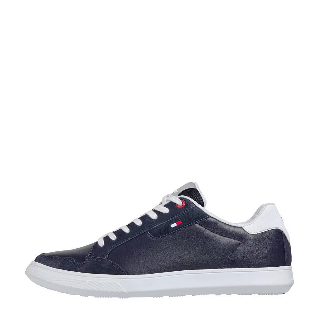 Tommy Hilfiger Essential  leren sneakers blauw, Blauw