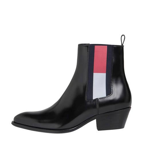 Tommy Jeans leren chelsea boots zwart