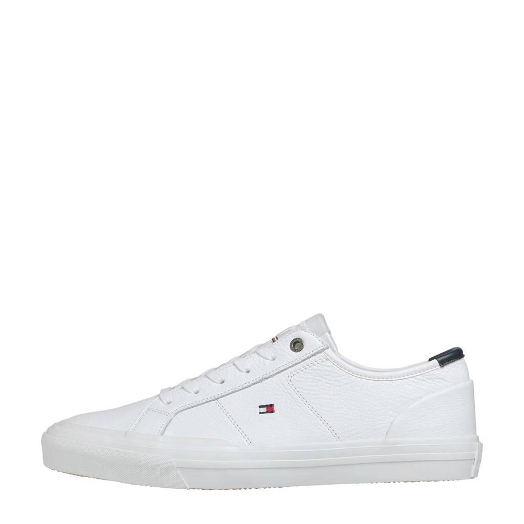 Tommy Hilfiger   leren sneakers wit, Wit