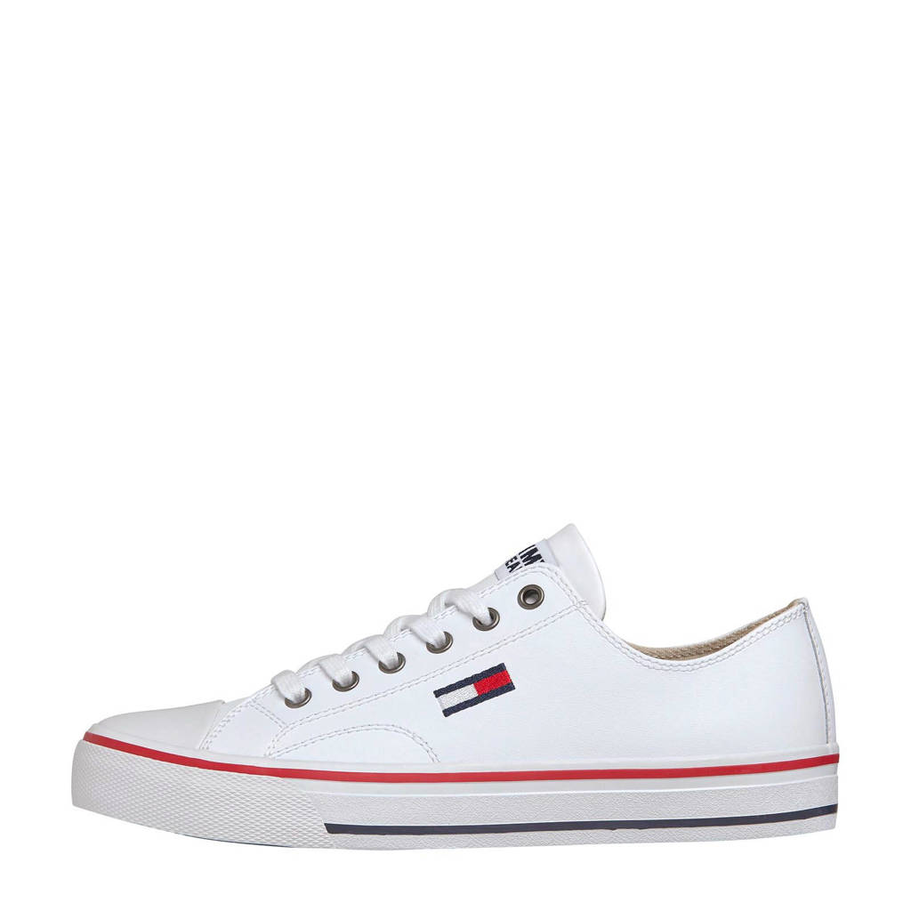 Tommy Jeans City  leren sneakers wit, Wit