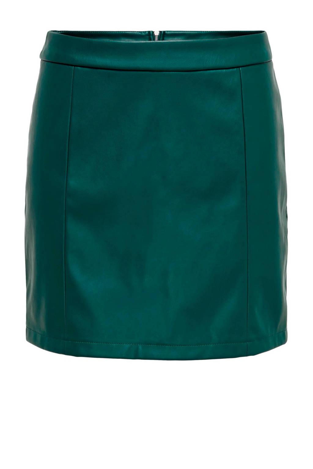 JACQUELINE DE YONG imitatieleren rok groen, Groen