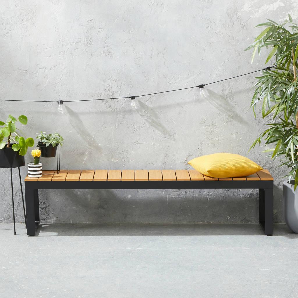 wehkamp home tuinbank Berkeley (180x40 cm), Naturel/zwart