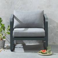 whkmp's own loungestoel Florida, Antraciet/zwart