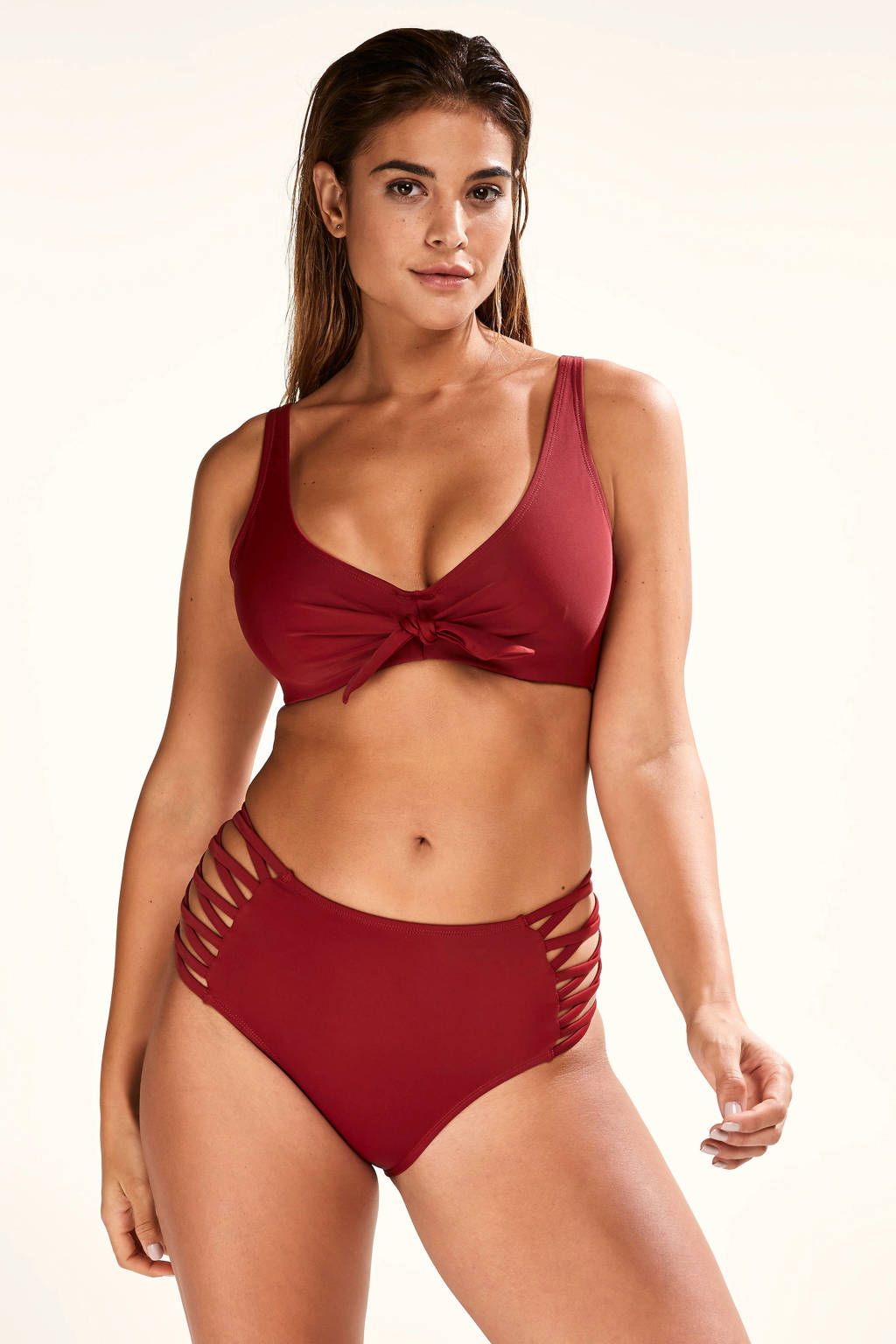 Core collection other high waist bikinibroekje Sunset Dream rood, Rood