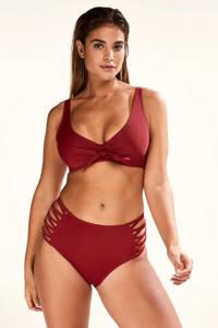 Hunkemöller high waist bikinibroekje Sunset Dream rood, Rood