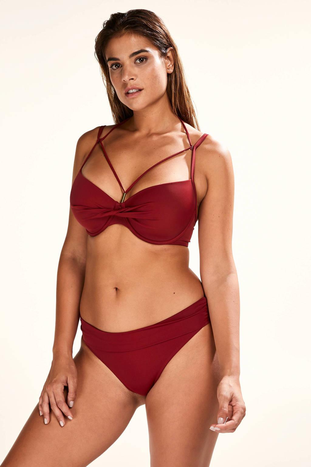 Hunkemöller beugel bikinitop Sunset Dream rood, Rood
