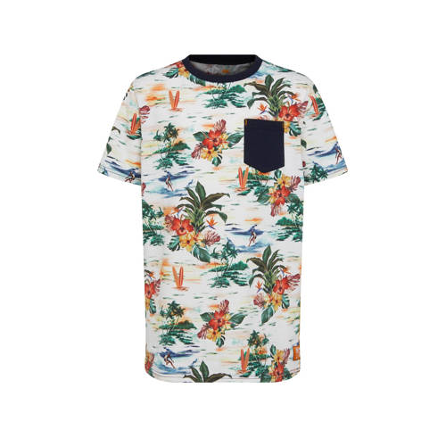 WE Fashion T-shirt met all over print wit/multi