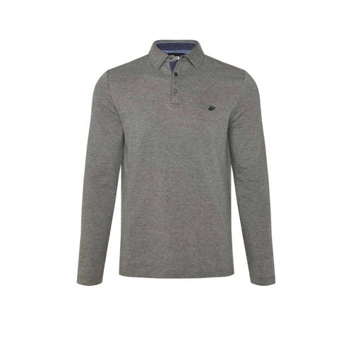 WE Fashion slim fit polo met jacquard forest night