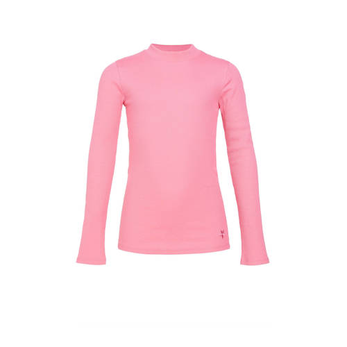 WE Fashion ribgebreide longsleeve roze
