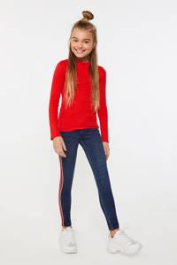WE Fashion ribgebreide longsleeve rood, Rood