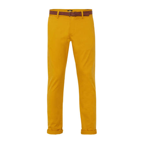 WE Fashion slim fit chino honey mustard