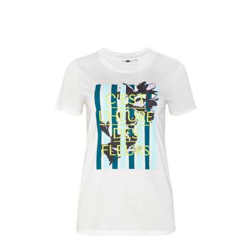 WE Fashion T-shirt met printopdruk ecru
