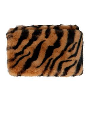 sjaal imitatiebont tijgerprint