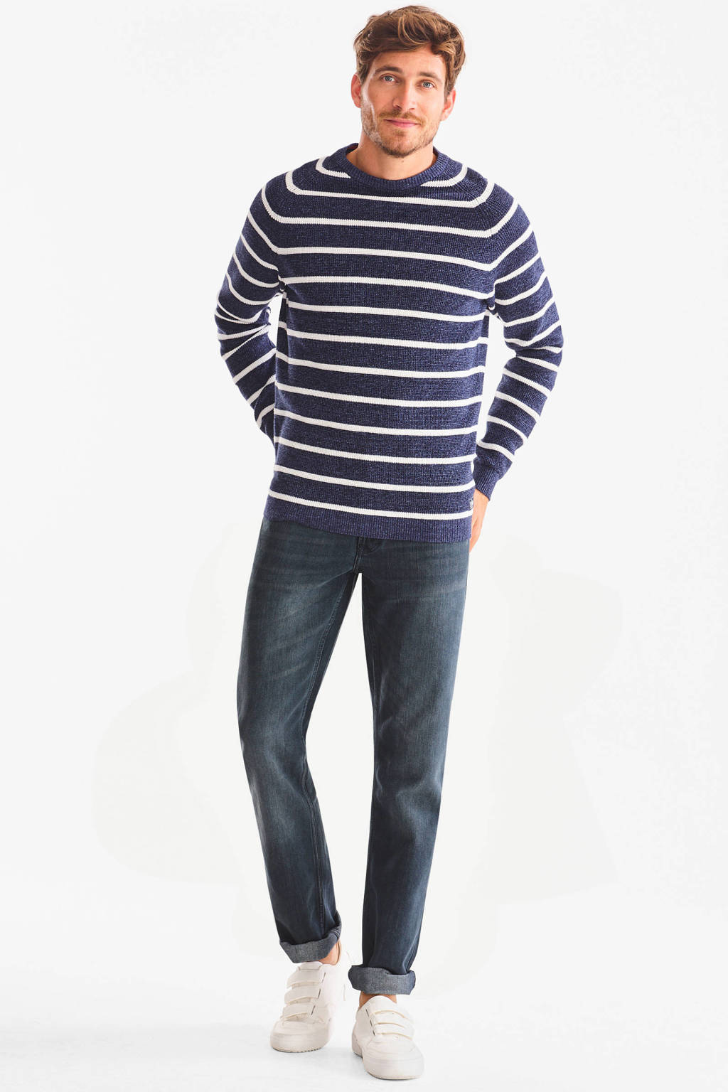 C&A The Denim straight fit jeans grijsblauw, Grijsblauw