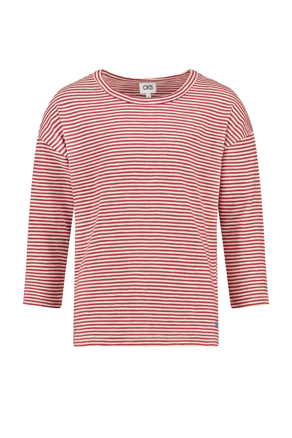 CKS KIDS gestreept T-shirt Greet rood/wit, Rood/wit