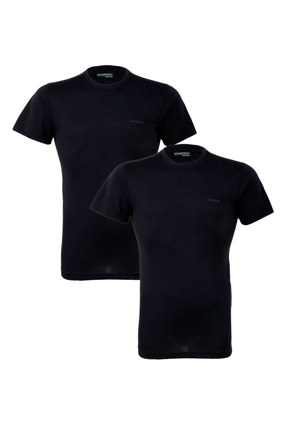 Campri thermo T-shirt (set van 2) zwart, Zwart