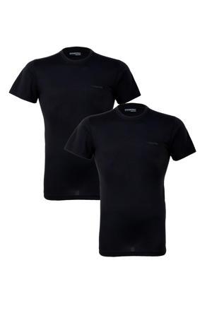thermo T-shirt (set van 2) zwart