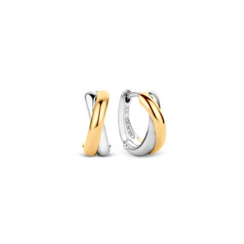 TI SENTO Milano 7667SY goud- en zilverkleurge oorbellen 12,5 mm