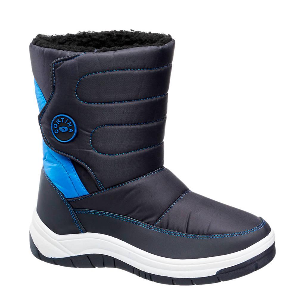 Cortina   snowboots blauw/zwart, Zwart/blauw