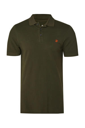 slim fit polo van biologisch katoen forest night