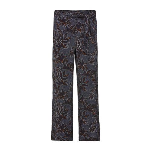 WE Fashion high waist regular fit broek met all ov