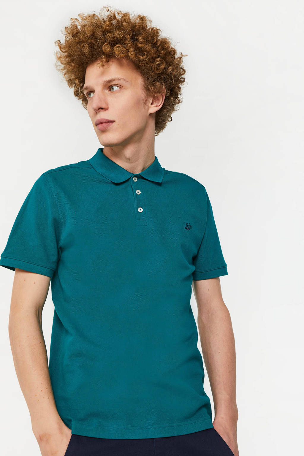 WE Fashion regular fit polo jungle leaves, Jungle Leaves