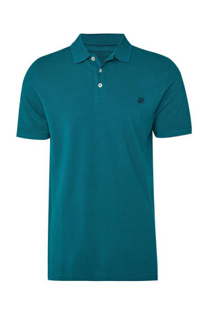 regular fit polo jungle leaves