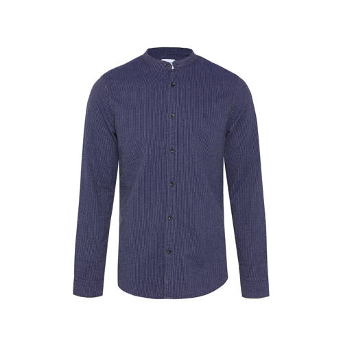 WE Fashion Blue Ridge slim fit overhemd met all ov